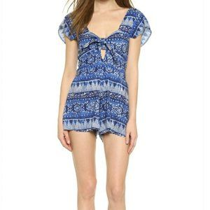 House of Harlow Fernando Bow Front Romper